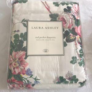 Laura Ashley - Darcy 84 in. Rod pocket curtains